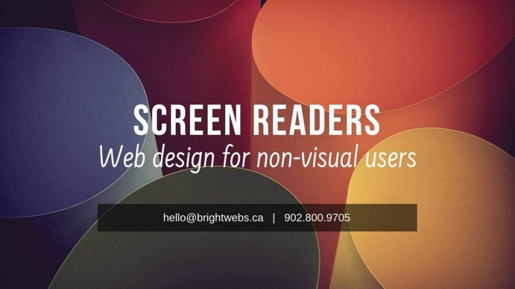 brightwebs feature image screen readers web design